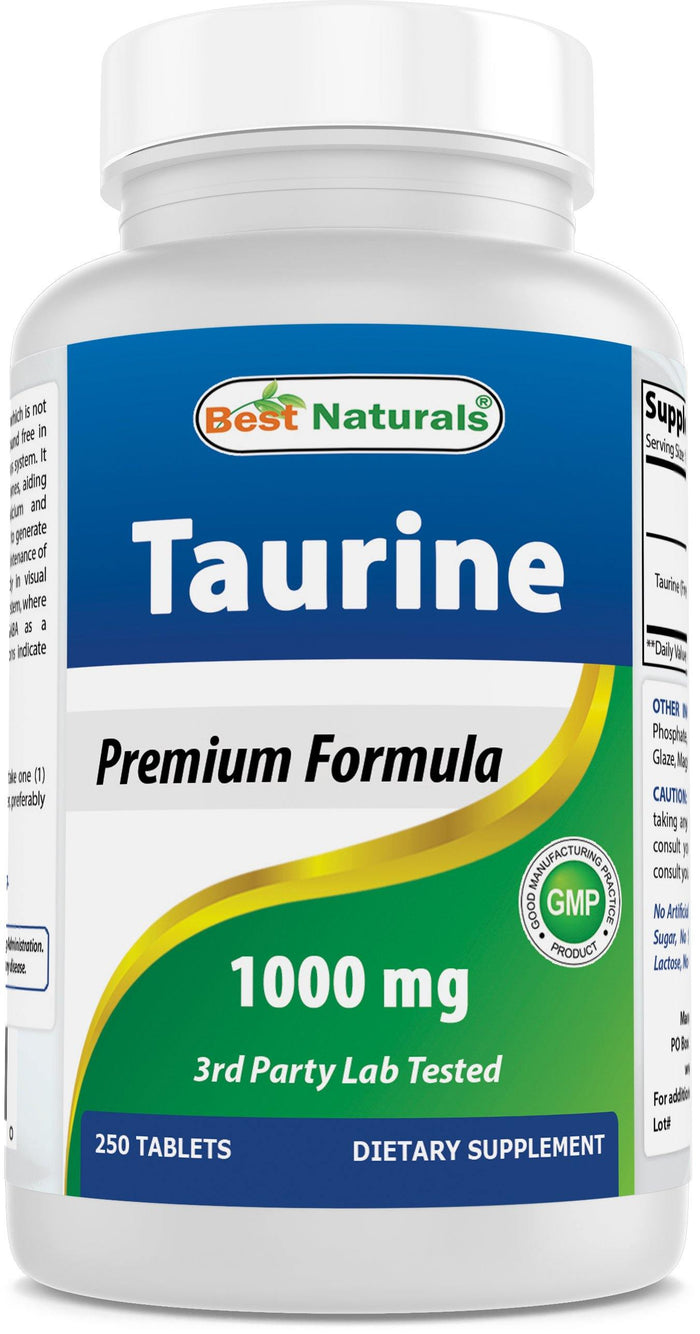 Best Naturals Taurine 1000 mg 250 Tablets