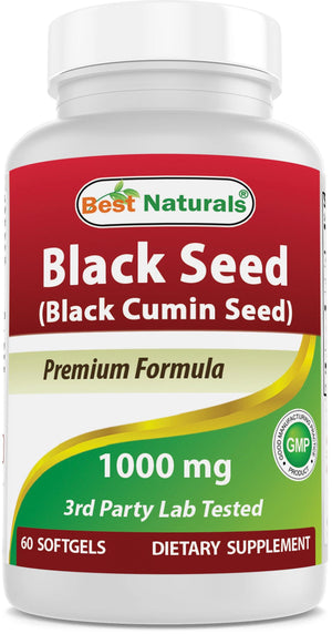 Best Naturals Black Seed Oil 1000 mg 60 Softgels