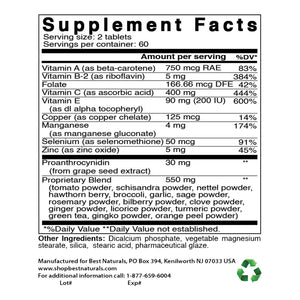 Best Naturals Super Antioxidant 120 Tablets