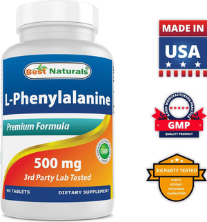 Best Naturals L-Phenylalanine 500 mg 90 Tablets