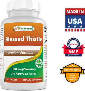 Best Naturals Blessed Thislte 800mg/Serving 250 Capsules