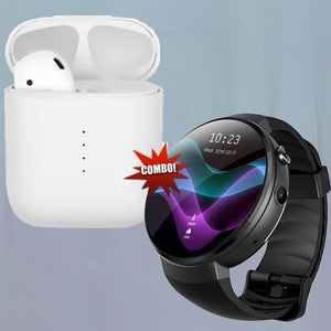 LEM7 4G-LTE GPS Watch Phone With 2GB+16GB+i10 Wireless Earpod