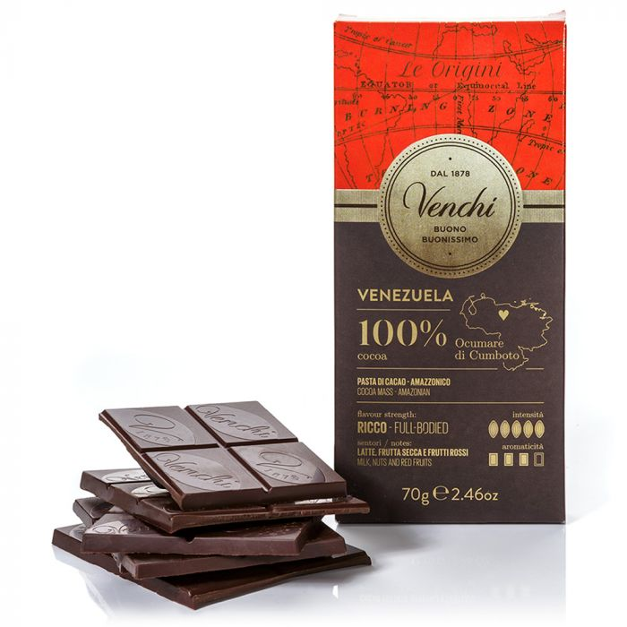venchi-chocolate-Venezuela-100-Dark-Chocolate-Bar