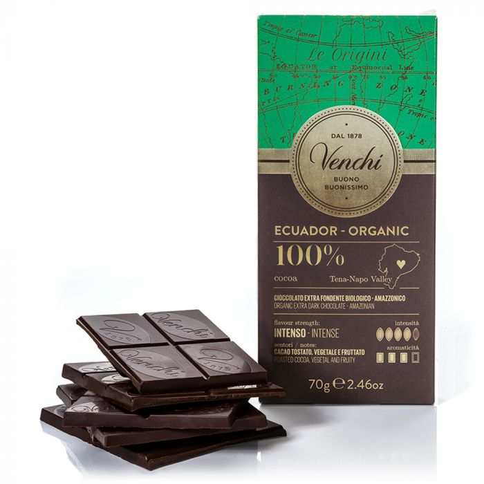 venchi-chocolate-Organic-Ecuador-100-Dark-Chocolate-Bar (4465851531396)