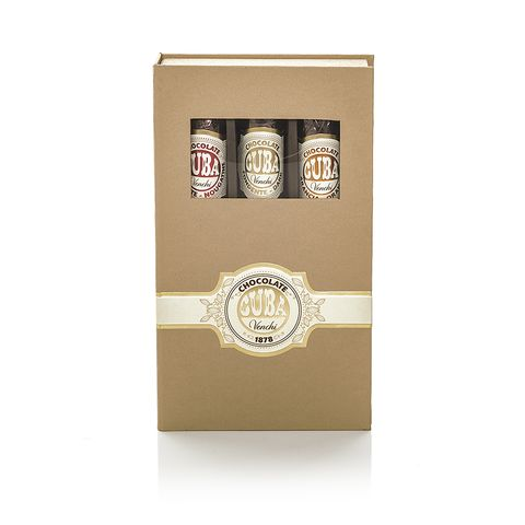 venchi Assorted Chocolate Cigar Gift Box: three Cigars. (4504825888900)