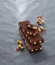 Load image into Gallery viewer, venchi-chocolate-Extra-Dark-Gianduja-With-Hazelnuts-Chunky-Bar (4465852874884)