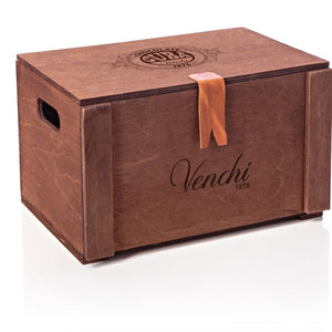 venchi Assorted Chocolate Cigars in a Wooden Gift Box 54 pcs (4504699961476)