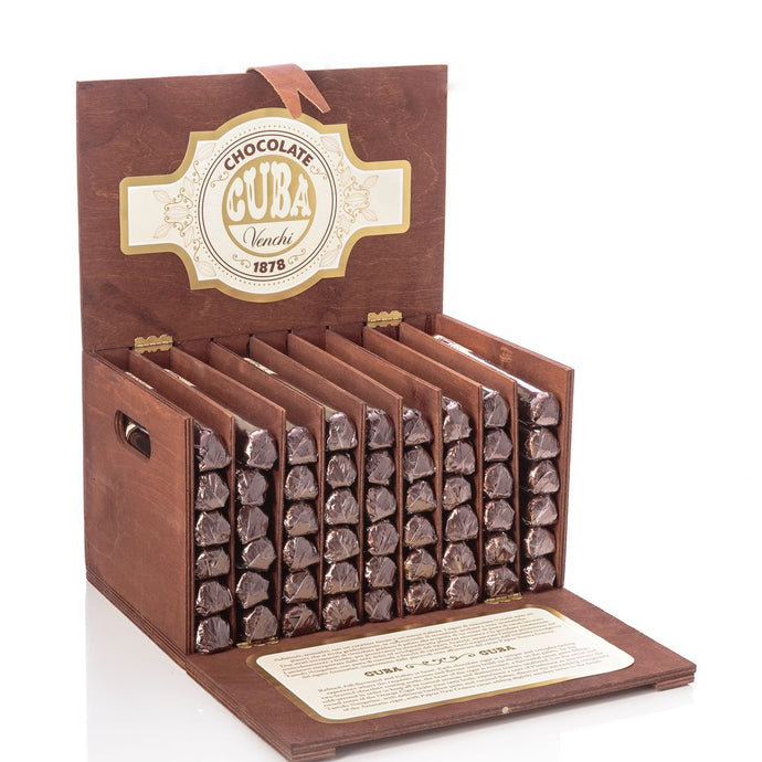 Assorted Chocolate Cigars in a Wooden Gift Box 54 pices