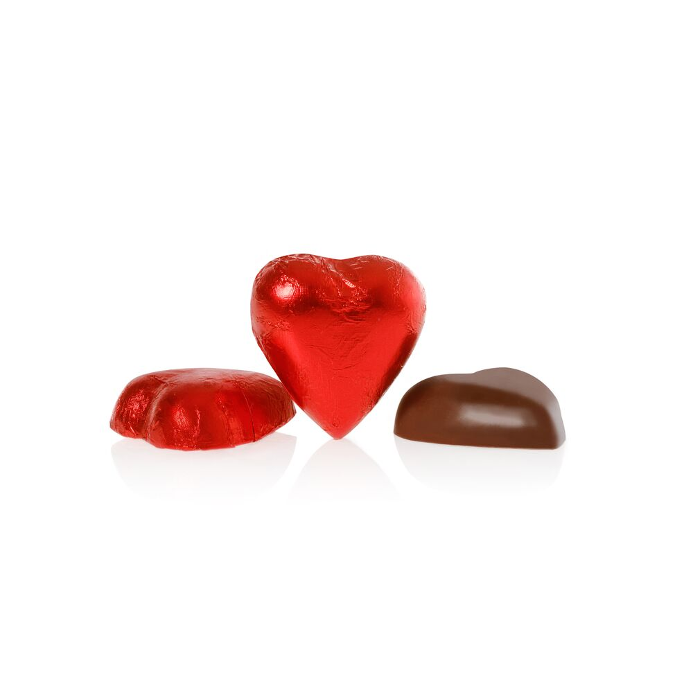 20 Milk Chocolate Heart Shaped Valentine Collection