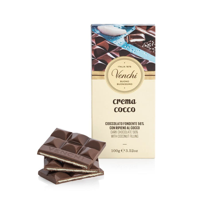 Crema Coco Coconut Dark Chcolate Bar 3.52oz