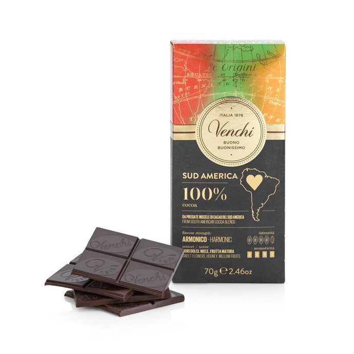 100% South American Dark Chocolate Bar 2.46oz