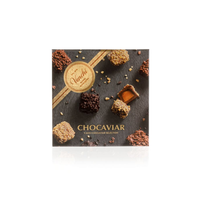 9 Assorted Chocolate Mini Chocaviar Gift Box 4.59oz