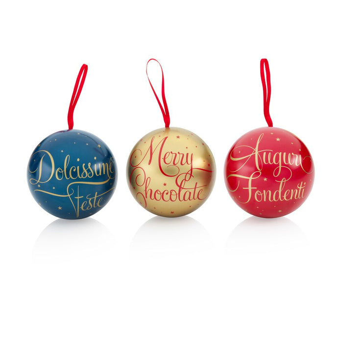 Assorted Comets chocolates in a trio of Christmas baubles 4.02oz