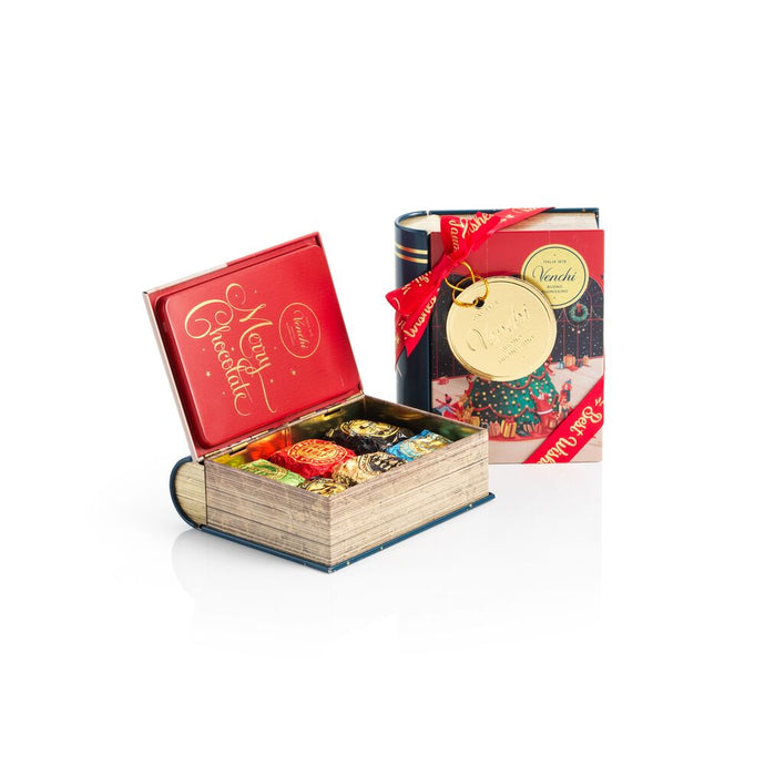 6 Assorted Chocaviar Chocolates Mini Christmas Book Gift Box 4.16oz