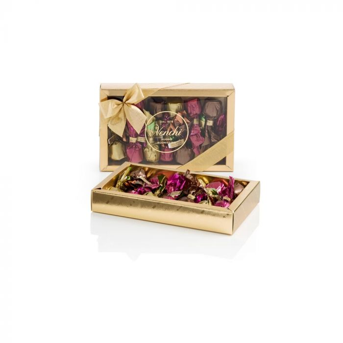 venchi-chocolate-Assorted-Chocolate-Truffles-In-A-Gold-Box