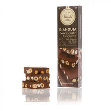 Load image into Gallery viewer, venchi-chocolate-Extra-Dark-Gianduja-With-Hazelnuts-Chunky-Bar