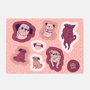 Pugs Sticker Sheet