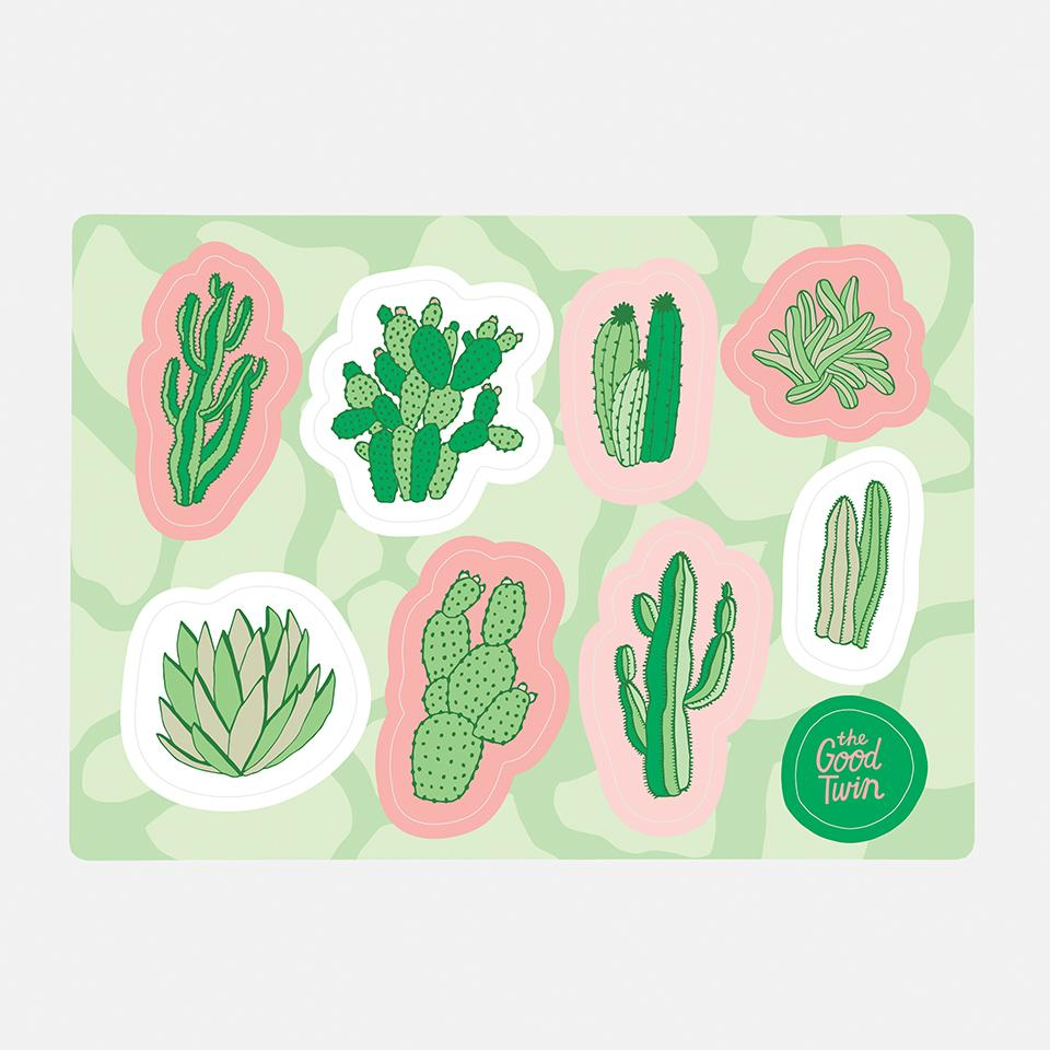 Cacti Sticker Sheet
