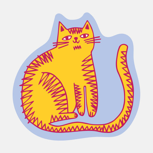 Orange Cat Sticker