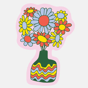 Daisy Vase Sticker