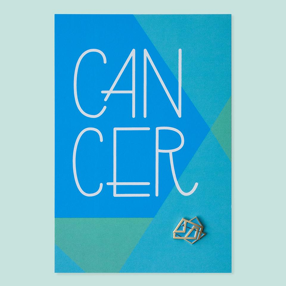 Cancer Pin+Post