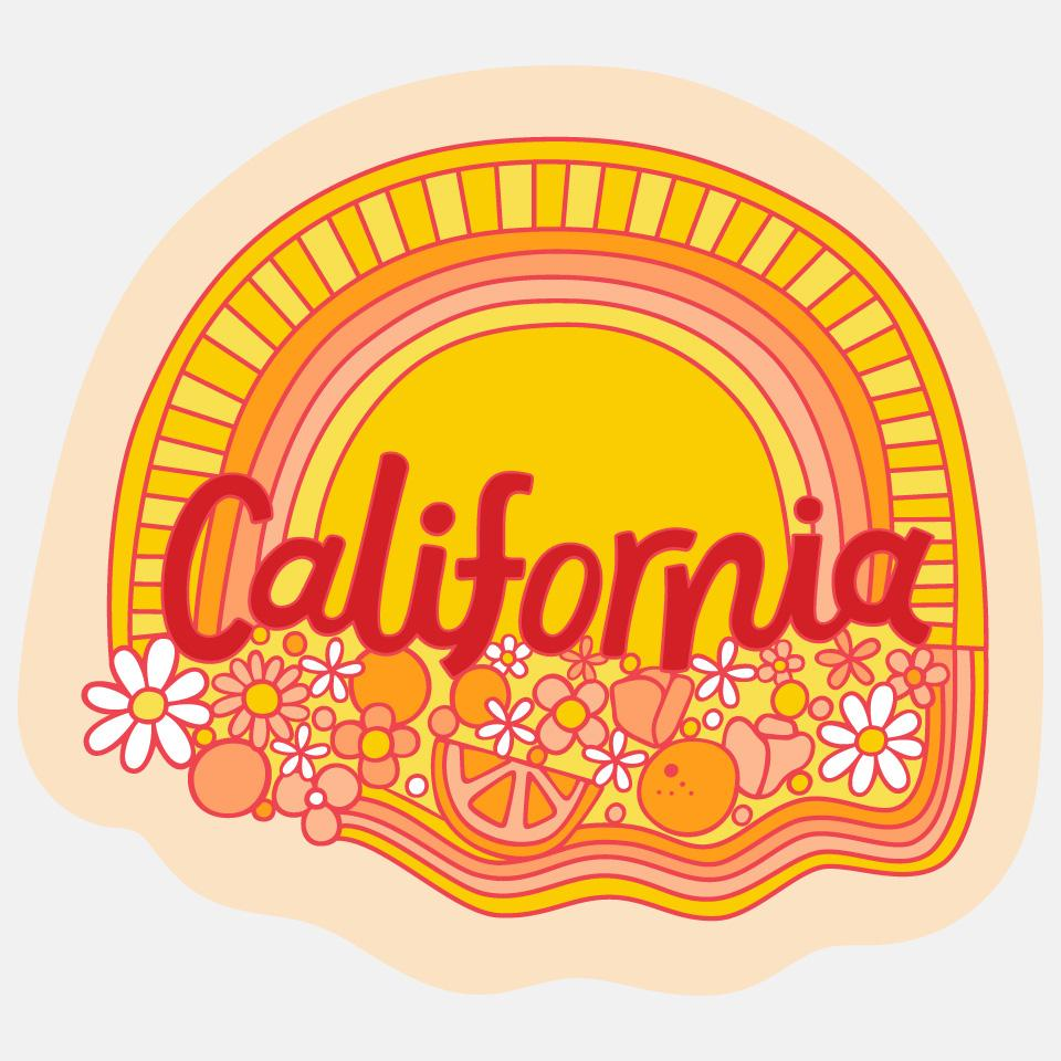 Cali Floral Sticker