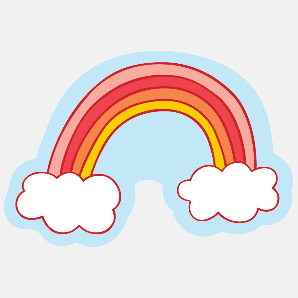 Cloud Rainbow Sticker