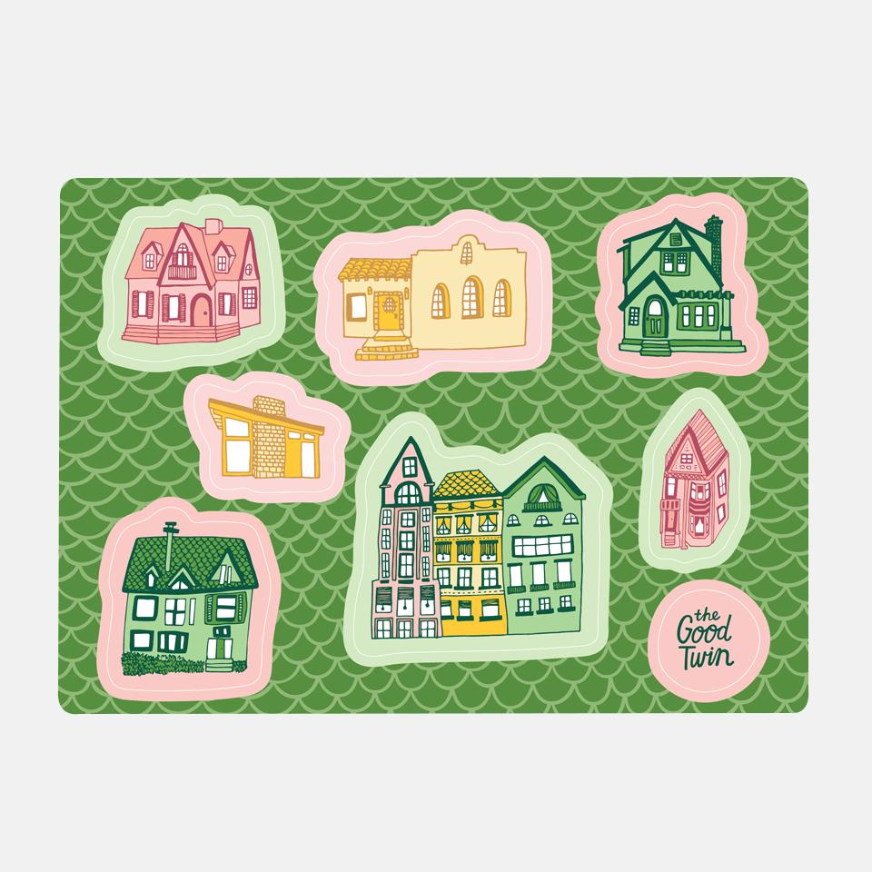 Houses Sticker Sheet