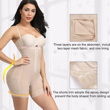 Load image into Gallery viewer, HEXIN Plus Size Women Full Body Shapewear Underbust Slimming Mid thigh Shaper fajasTummy Control Seamless Postpartum Body Girdle