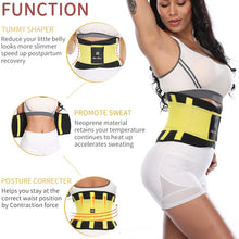 Load image into Gallery viewer, Fitness Belt Xtreme Power Thermo Body Shaper Waist Trainer Trimmer Corset Waist Belt Cincher Wrap Workout Shapewear Slimming