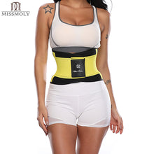 Load image into Gallery viewer, Miss Moly Waist Trainer Modeling Belt Thermo Body Shaper Sweat Shapewear Tummy Slimming Sheath Woman Neoprene Fitness Corset