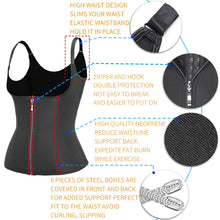 Load image into Gallery viewer, Body Shapes Neoprene Sauna Sweat Vest Waist Trainer Slimming Trimmer Fitness Corset Workout Thermo Modelling Strap Shapewear