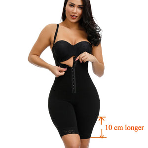 HEXIN Plus Size Women Full Body Shapewear Underbust Slimming Mid thigh Shaper fajasTummy Control Seamless Postpartum Body Girdle
