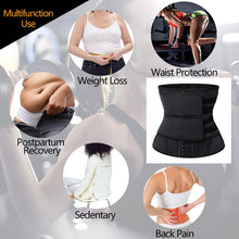 Load image into Gallery viewer, Black Slimming Belt Waist Trainer Corset Sauna Sweat Faja Sport Girdles Shaper Lumbar Trimmer Straps Modeling Women Shapewear