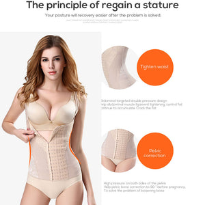 woman's shaper slimming waist trainer Shapewear tummy shaper corrective underwear slimming sheath belly women corset for posture
