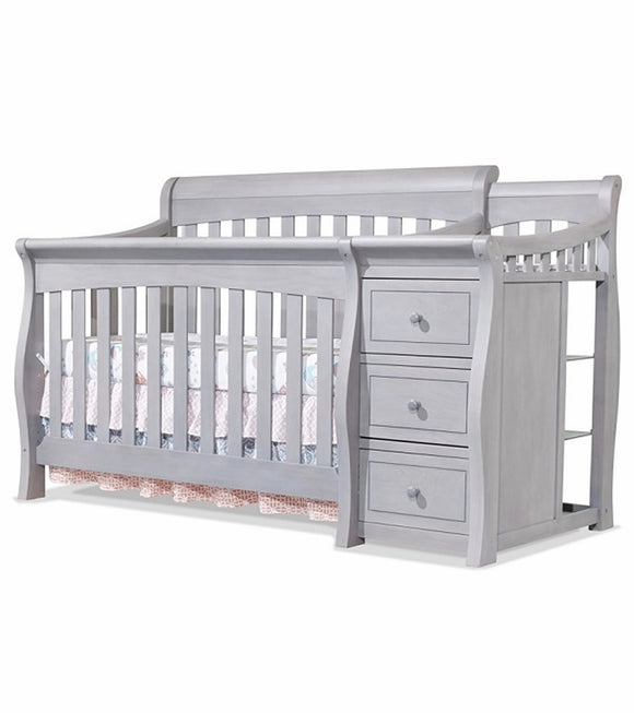 Baby Crib with shelves