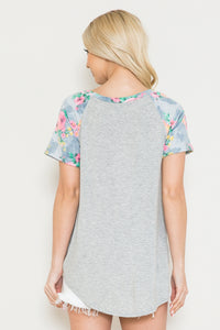 FLORAL SLEEVES LOOSE END