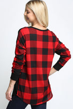 Load image into Gallery viewer, RED/IVORY PLAIN FRONT PLAID