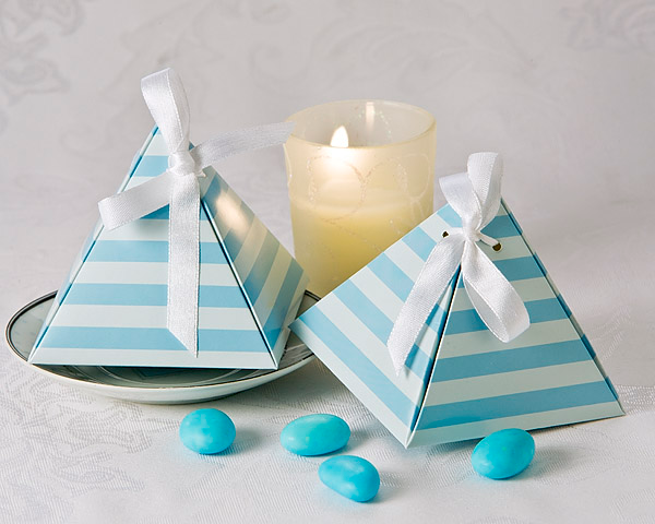 Something Blue Pyramid Favor Box (24 Pack) - CLOSEOUT PRICE - ArtisanoDesigns