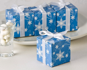 Winter Wishes Snowflake Favor Box (24 Pack) Favor