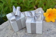 Load image into Gallery viewer, Shimmering Silver Favour Boxes (Set of 24) - ArtisanoDesigns