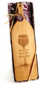 'Buon Appetito' Wine Shaped Cheese Board - ArtisanoDesigns