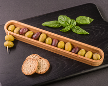 Load image into Gallery viewer, Tastings Olive and App Canoe - ArtisanoDesigns