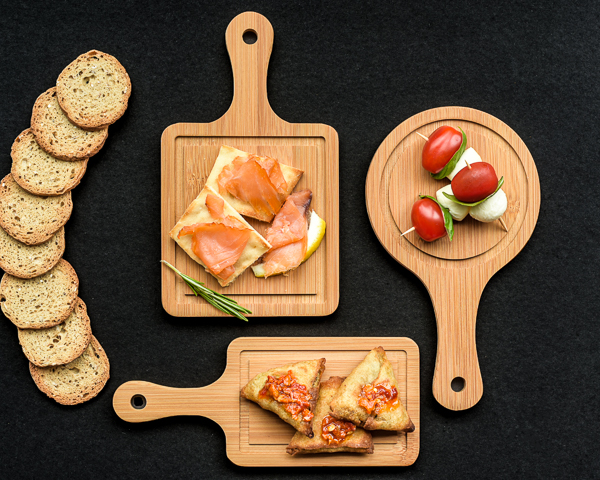 Tasteful Tapas Mini Appetizer Boards (Set of 3) - ArtisanoDesigns