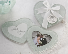 Load image into Gallery viewer, Heartfelt Memories Heart Shape Photo Coasters Favor (Set of 2) - ArtisanoDesigns
