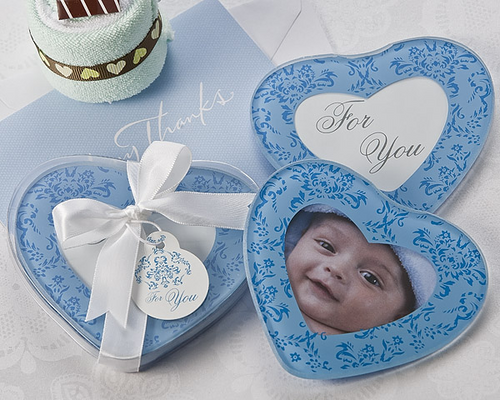 True in Blue Heart Shaped Photo Coasters (2pk) Favor
