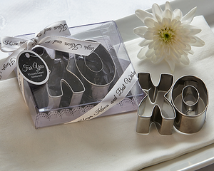 XO Best Wishes Cookie Cutter Set Favor - CLOSEOUT PRICE - ArtisanoDesigns