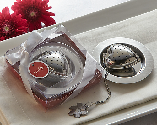 Love is Brewing' Heart Tea Infuser Favor - ArtisanoDesigns