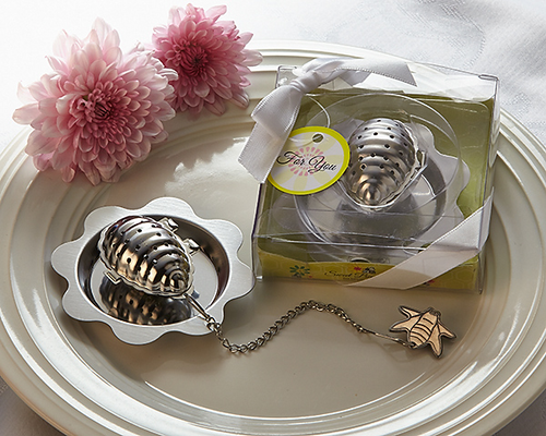 Sweet Bee-ginnings' Beehive Tea Infuser Favor - ArtisanoDesigns