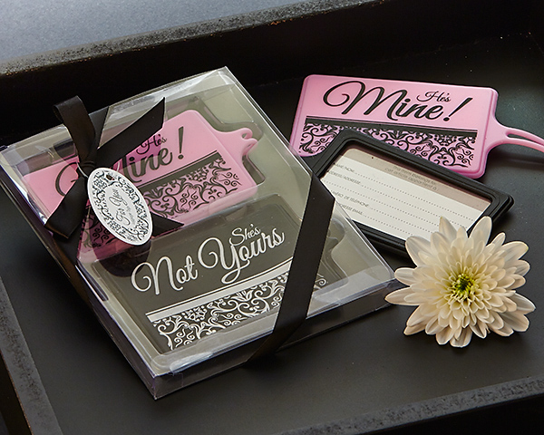 Mine Not Yours His & Hers Luggage Tag Set Favor - CLOSEOUT PRICE - ArtisanoDesigns